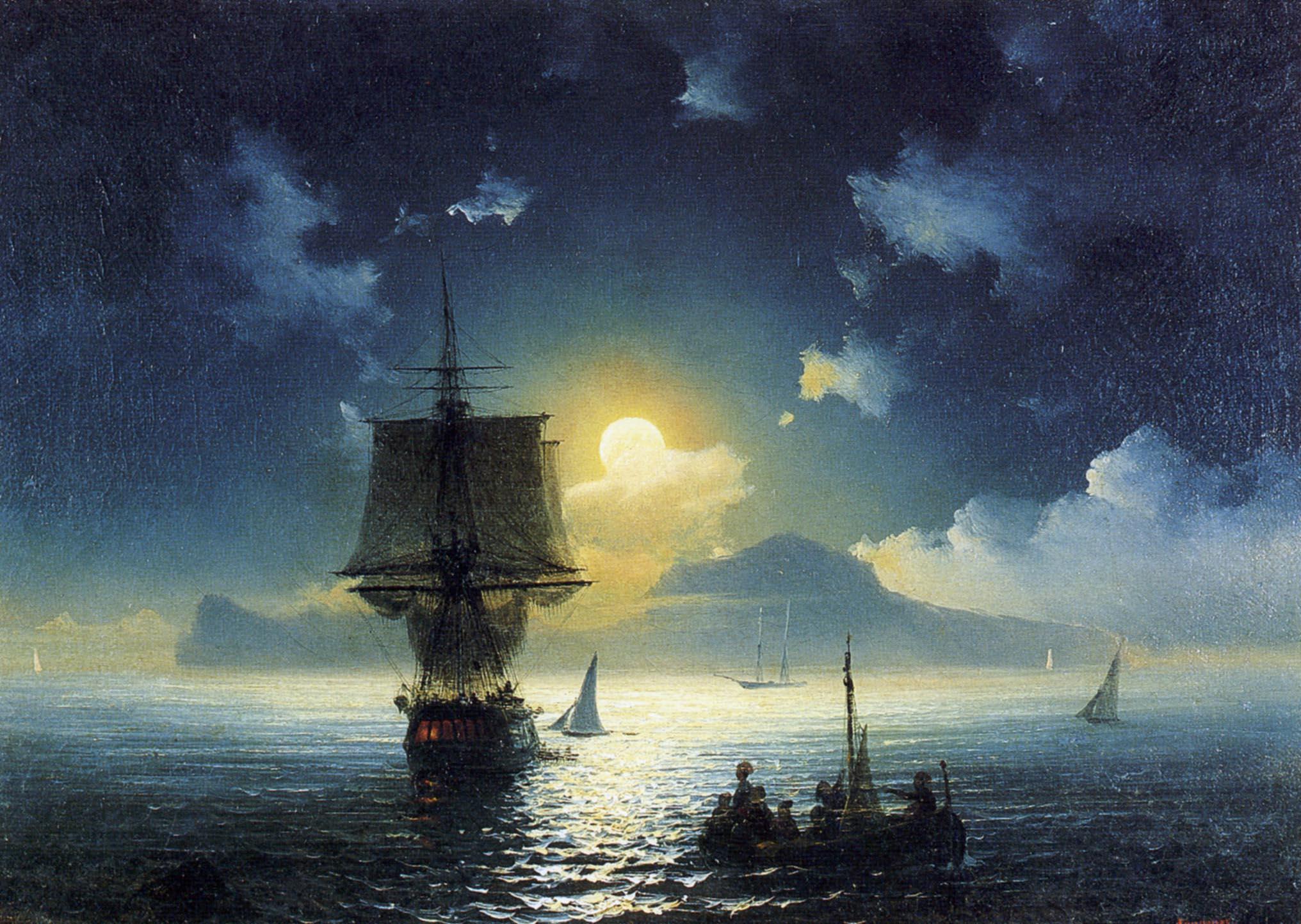 Картинки лунная ночь